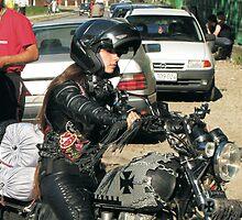Beauty On Motorbike by branko stanic