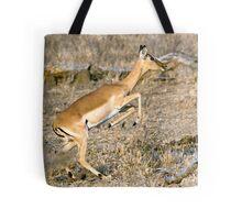 Leaping Impala Tote Bag