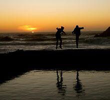 Karate Kids at Ocean Beach  by Rae Breaux