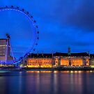 London Eye & Aquarium From Across The Thames by Bryan Freeman