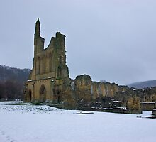 Winter at Byland Abbey by Trevor Kersley