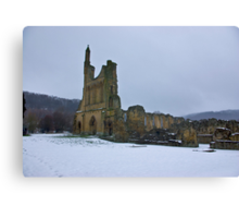 Winter at Byland Abbey Canvas Print