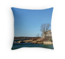 House At Niles Beach, Gloucester, Massachusetts Throw Pillow