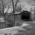 Covered Bridge in Winter by ericseyes