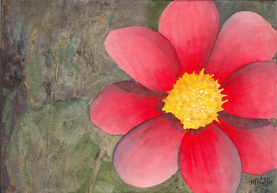 Red Flower by Ken Powers