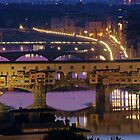 Ponte Vechhio at Night by Cliff Williams