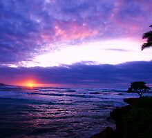 Polynesian sunset by Lee Gunderson