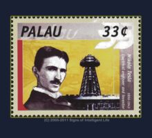 Tesla Stamp (Palau) by SOIL