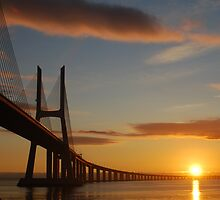 Vasco da Gama bridge Portugal by Big Red
