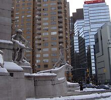 Manhattan Snow Men by BlackSwan
