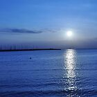 Sunset on blue by litratista