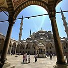 Entrance to the Blue Mosque, Sultanahmet, Istanbul by Christopher Cullen