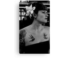 Rockabilly queen Canvas Print
