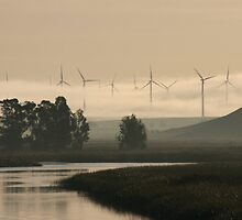 FOG OVER THE WINDMILLS by SMOKEYDOGSOCKS