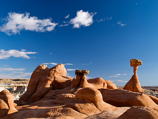 The Toadstool Rocks, Utah by Alex Cassels