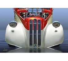 Candy Cane Hot Rod Photographic Print