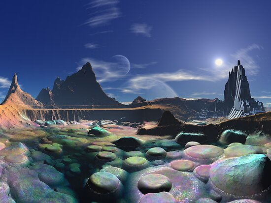 Morning on Rainbow Pebble Bay by SpinningAngel