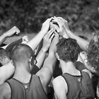 """Go Team"" -pulling together as a team (b/w) by John Hartung"