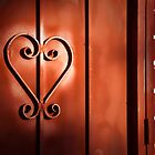 """Romantic Entry"" - heart shape on door by John Hartung"