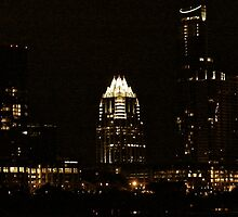 Austin Texas - Downtown - Late Night View by Jack McCabe
