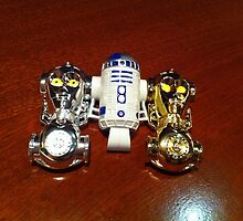 R2D2 and C3PO by JustinArt