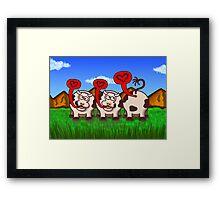 Loving Cows Framed Print