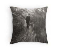 Mystery man in Leipzig Throw Pillow