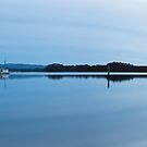 Evening falls on Macquarie Harbour Panroama by Will Hore-Lacy