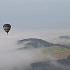 Hot air balloon over Derbyshire by Oaktreephoto