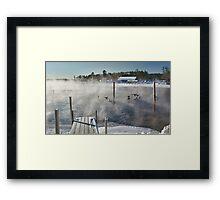Cold Winter Morning on Brandy Pond Framed Print