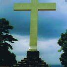 Cross on Mountain Top in Sewanee, Tennessee by Charldia