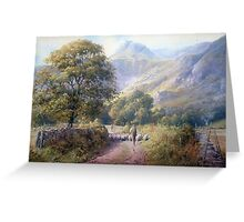 Driving into Langdale, Cumbria Greeting Card