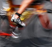 Speeding cyclist by Lee Gunderson