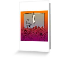 Human Arm Machine Greeting Card