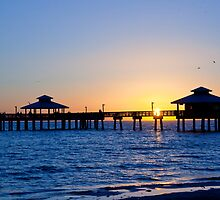 Fort Myers Beach Fishing Pier by phil decocco