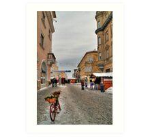 Street for pedestrians Art Print