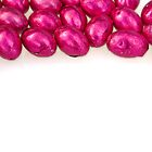 Pink Chocolate Eggs - Border Top by clearviewstock