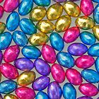 Assorted Colours - Chocolate Mini Eggs by clearviewstock
