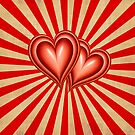 Dual Hearts on Canvas by clearviewstock