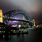 Sydney Harbour Bridge at Night by simbachee