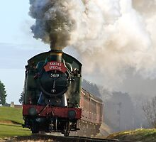 Steaming to Santa by Gerry  Balding