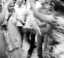 A Wedding Blurs the Street by lamiel