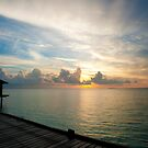Sunset in Maldives by Vilma Bechelli