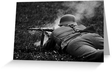German WWII Soldier Firing by Guy Carpenter