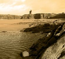ballybunion castle on the rocks by morrbyte