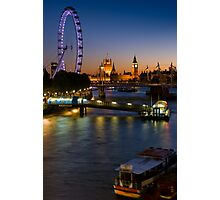 London Icons on the River Thames - England Photographic Print