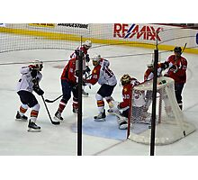 Washington Capitals vs. Florida Panthers: First Goal by Caps Photographic Print