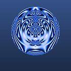 Blue Orbs 2 by Belinda Osgood