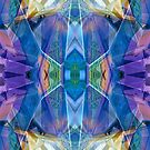 Reflected Blue Mirror Abstract II by Hugh Fathers