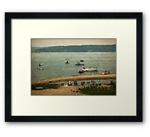 Lovely To See You Framed Print